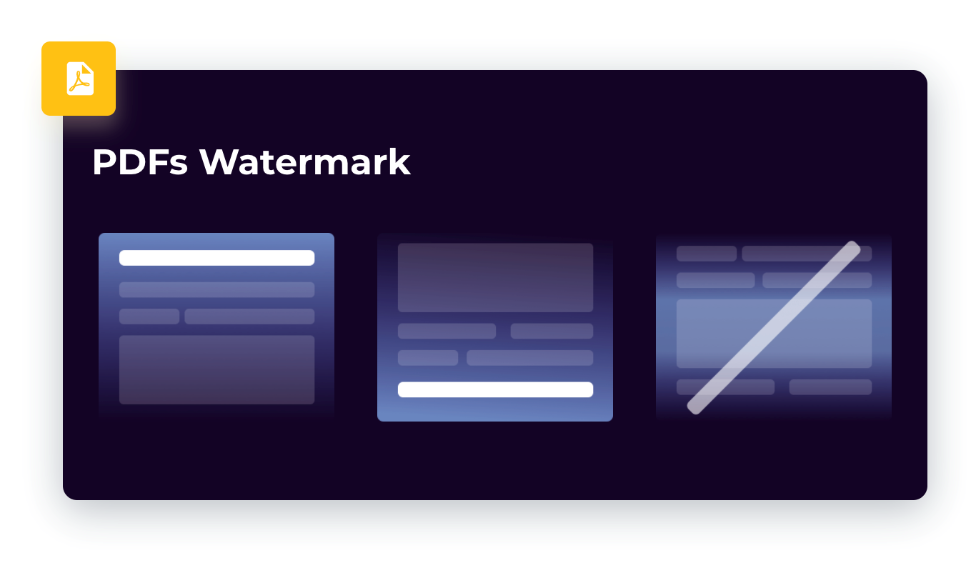 Watermaks for PDFs