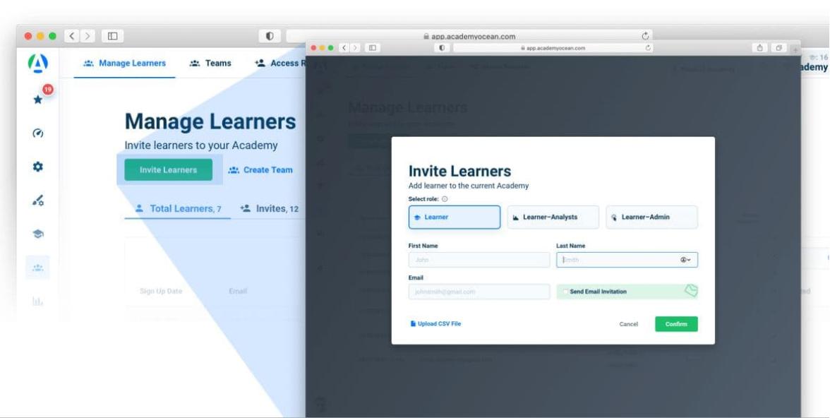 Learner admin