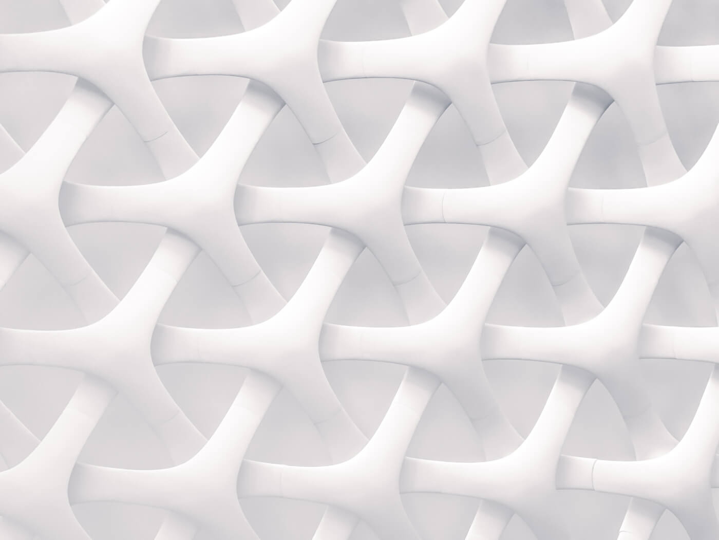 a white woven structure