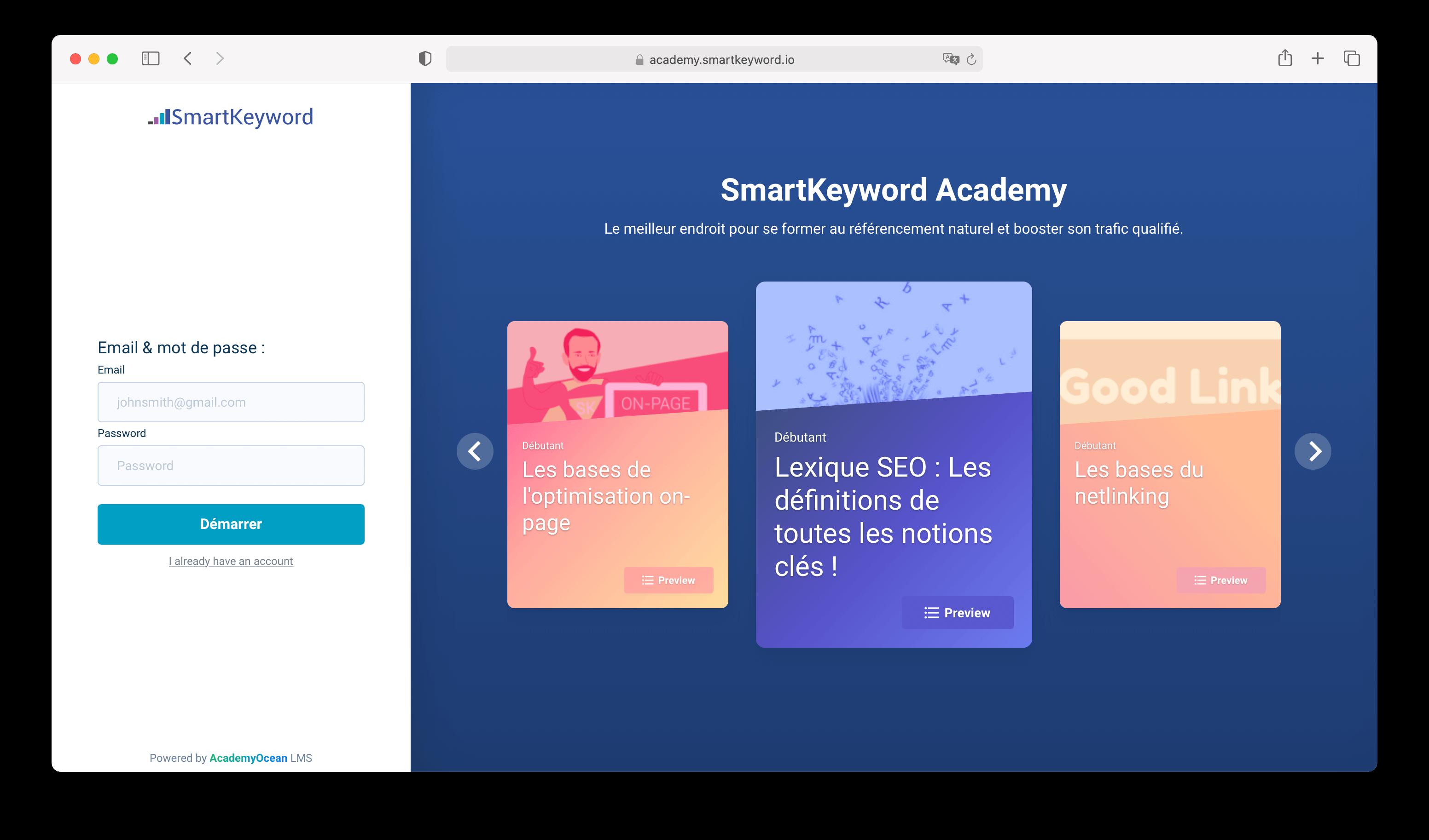 SmartKeyword Academy