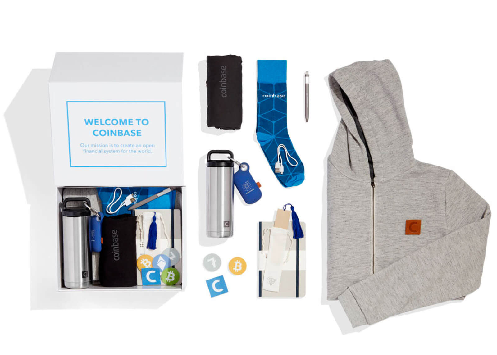 Coinbase welcome kit
