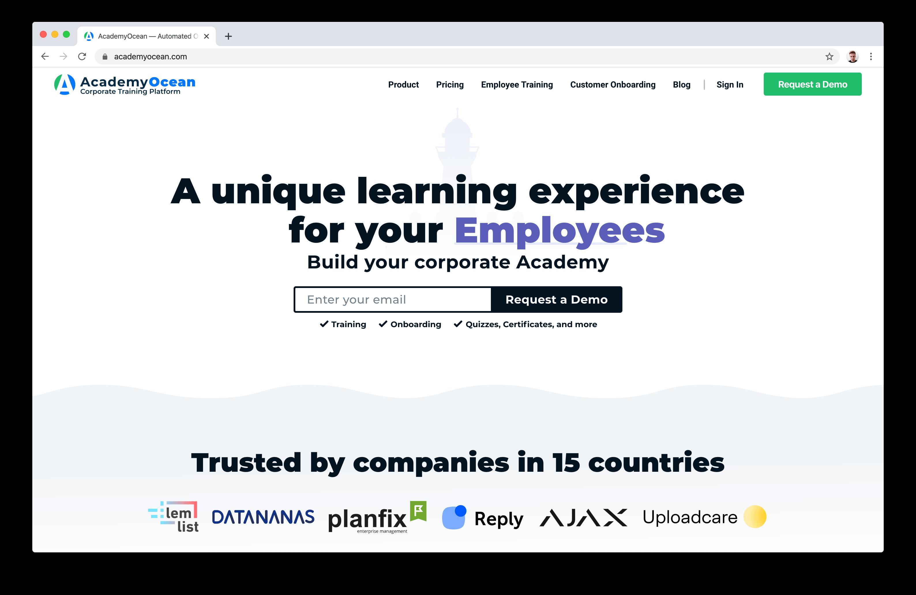 AcademyOcean home page