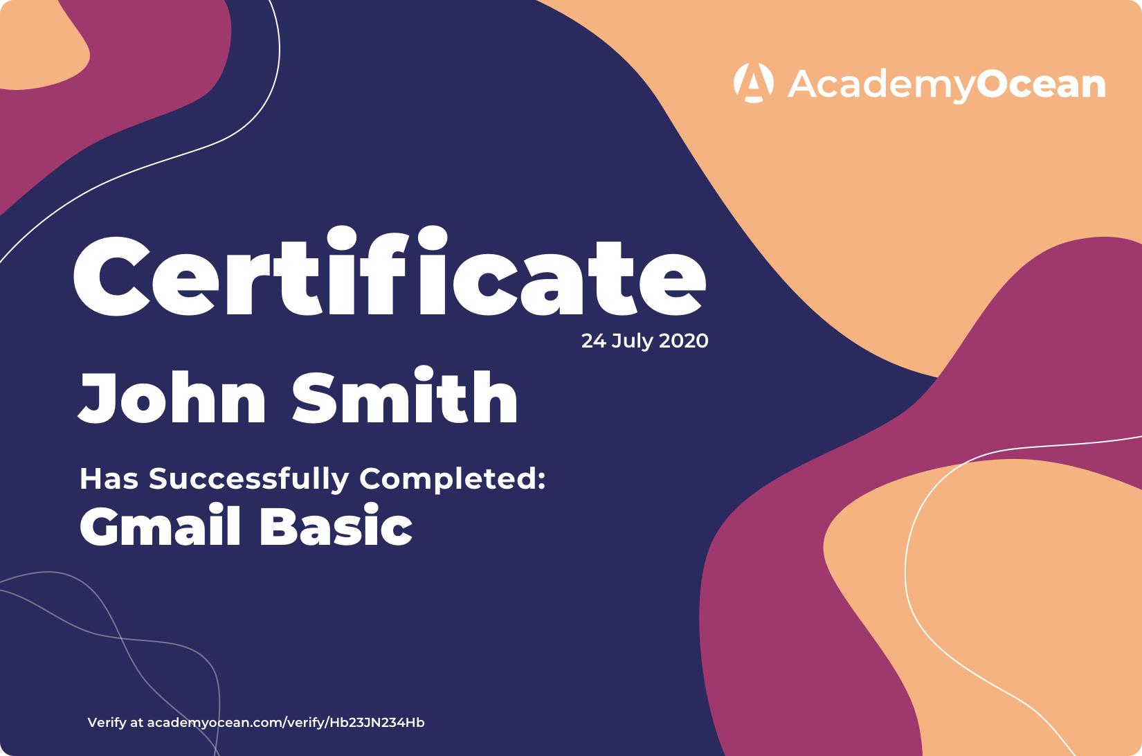 intentive certificate