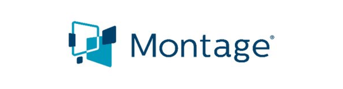 a logo of Montage