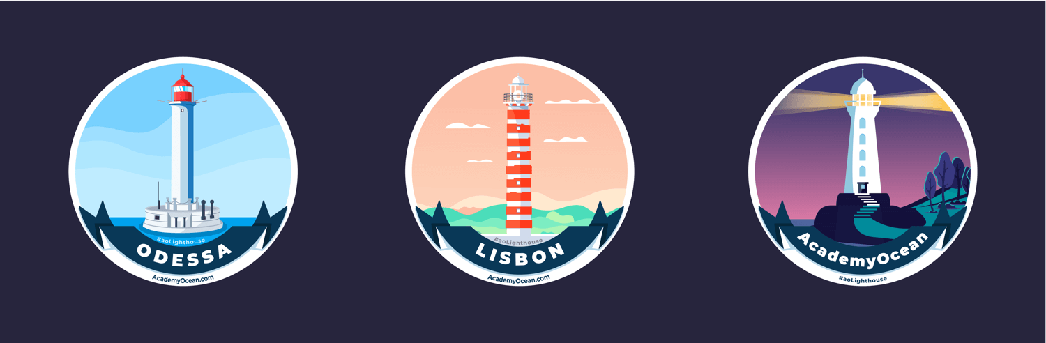 AcademyOcean lighthouse stickers