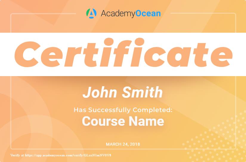 AcademyOcean Certificate