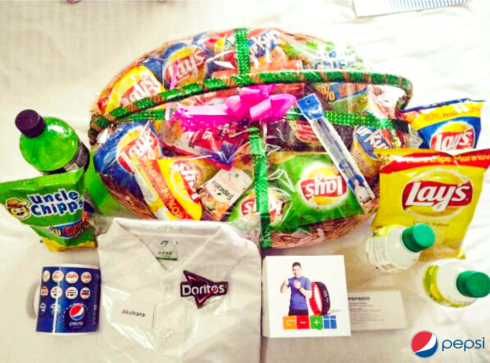 Pepsi Co welcome kit