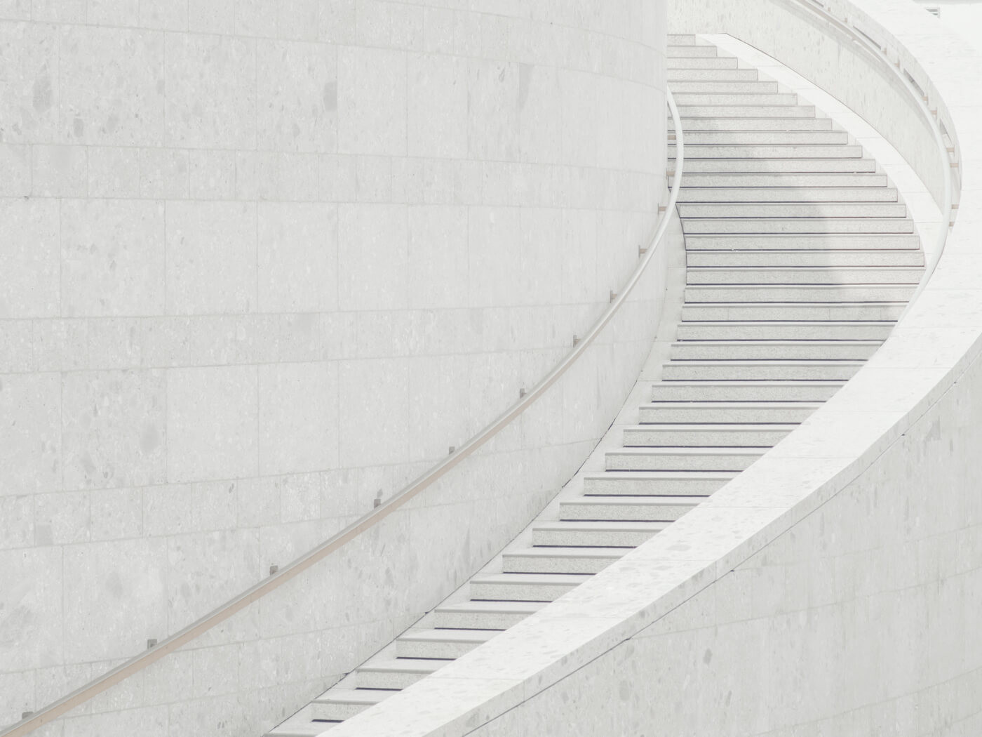 white steps on white ground