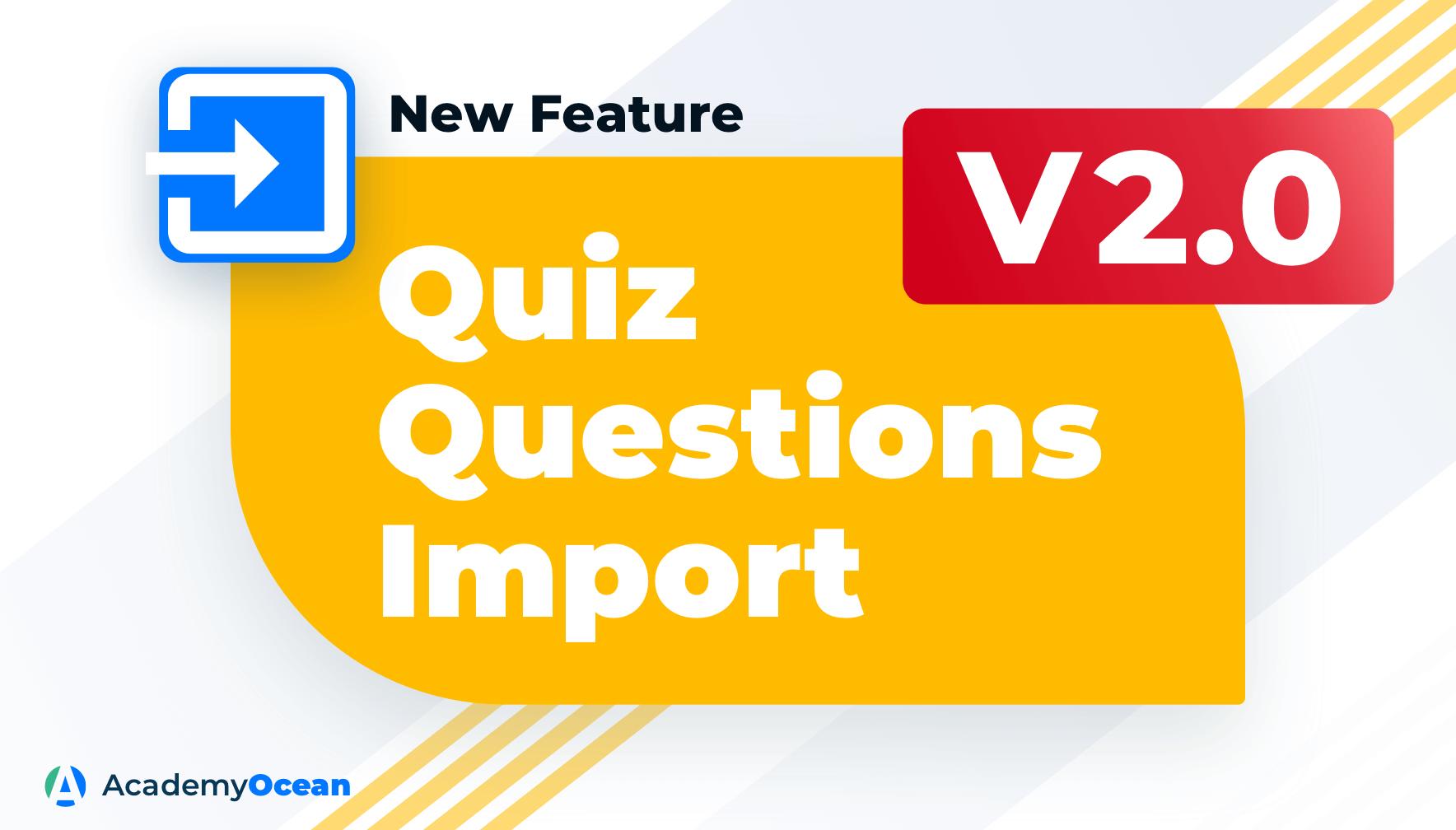 Quiz questions import