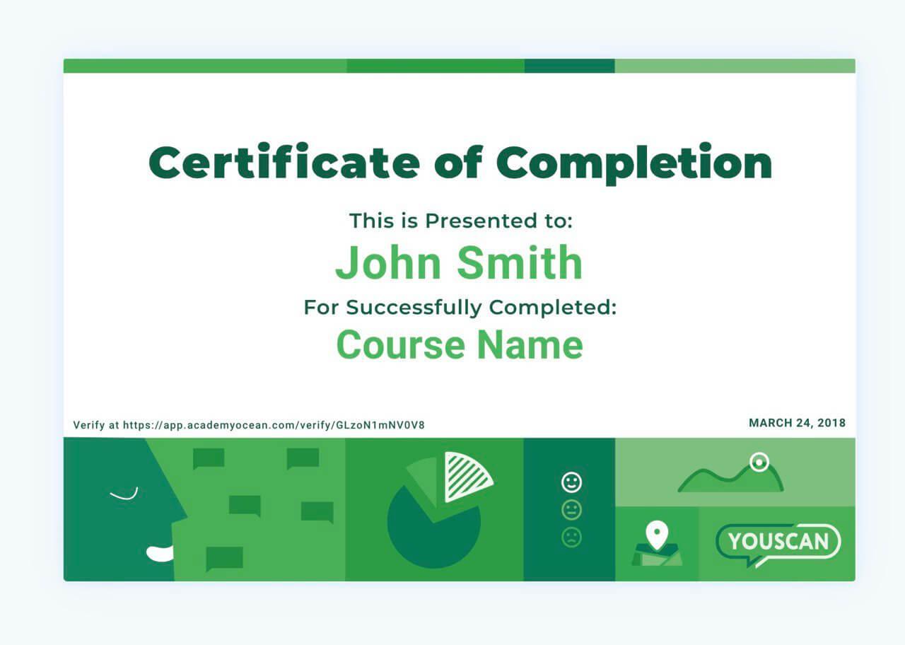 YouScan certificate